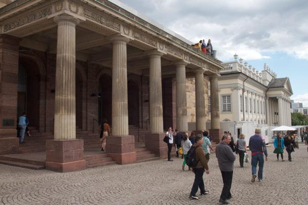Het warenhuis SinnLeffers in de Duitse stad Kassel