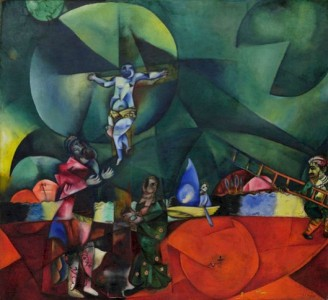 Marc Chagall - Calvary (1912) (Golgotha) Christus gewidmet